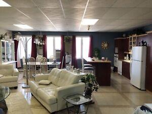 Immense loft entièrement meublé