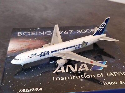 Ana All Nippon Airways Star Wars Bb8 R2d2 Boeing 767 300 Model 1 400 Phoenix New