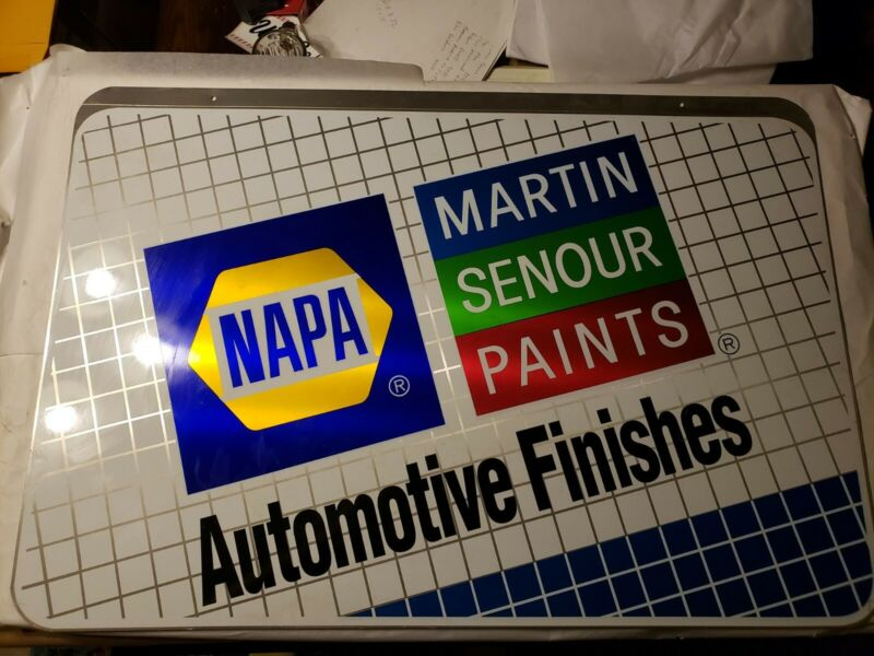 Martin Senour Paints Napa Double Sided metal  Advertising Sign 36x24