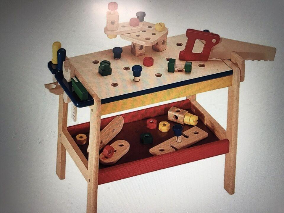 Kinder Werkbank aus Holz mit Zubehör, 52 teilig, Maße 60 x