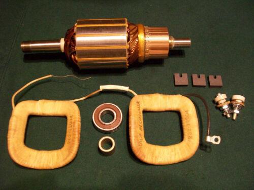 John Deere B BO BR Delco 6 Volt Generator Field Coil Set Armature Rebuild Kit