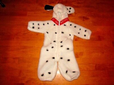 THE DISNEY STORE PLUSH 101 DALMATIONS COSTUME SIZE 6-12 MONTHS (101 Dalmations Costume)
