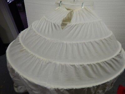 WOMANS VTG   CRINOLINE HOOLA HOOP PETTICOAT SKIRT REENACTMENT 50'S COSTUME ](Hoola Skirts)