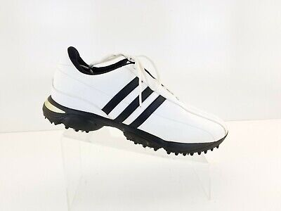 Adidas Adiwear Traxion White Black  Golf Shoes Cleats 816388 Men's Size 11