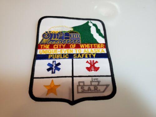 OBSOLETE SHOULDER PATCH CITY OF WHITTIER ALASKA PUBLIC SAFETY PATCH