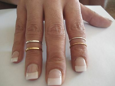 14 K & 10 K. SOLID GOLD OVER THE KNUCKLE BAND OR THUMB RING HANDMADE IN U.S.  (Gold Thumb Ring Ring)