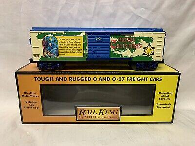 ✅MTH RAILKING 2009 CHRISTMAS BOX CAR 30-74531! FOR O GAUGE TRAIN SET HOLIDAY
