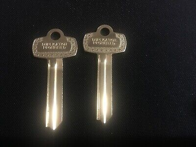 2 Key Blanks - Best H Keyway Quality Ilco Nickel-silver Blank Ilco 1a1h1