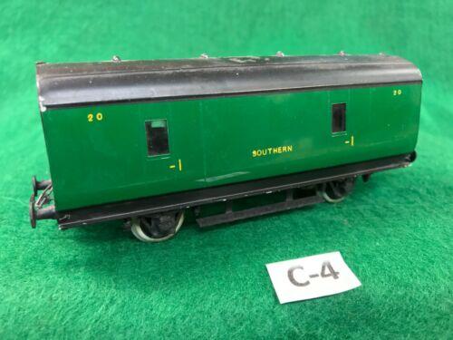 #4 Exley 00 scale coach Southern 4 wheel Parcel Van VG condition
