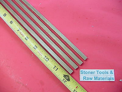 4 Pieces 14 X 14 C360 Brass Square Bar 12 Long Solid .250 Mill Stock H02