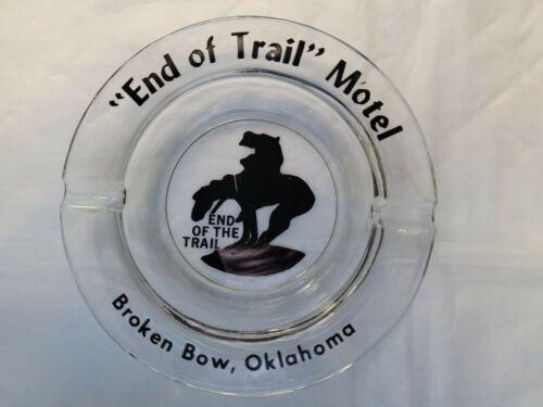 End of The Trail Motel Ashtray Broken Bow Oklahoma Souvenirs Vintage
