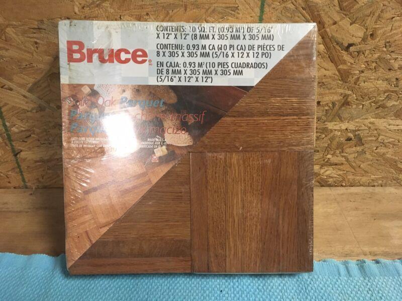 vintage bruce soild oak parquet 12x12x5 1/6 (10 sqft)