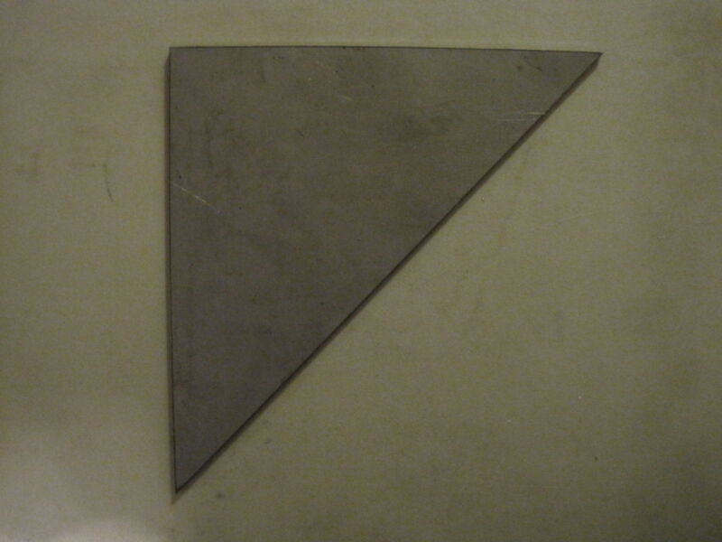 "8.00"" Steel Gussets, Box of 20, 1/4"" Steel, Weld Gusset, A36 Steel, Triangle"