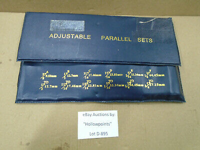 D895 Nos Adjustable Parallel 6 Pc. Set 637-7508 For Machinist 38 Thru 2-14