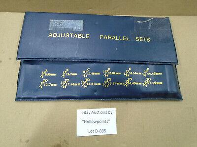 D895 Nos Adjustable Parallel 6 Pc. Set 637-7508 For Machinist 38 Thru 2-14
