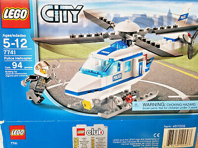 LEGO 7741 CITY Police Helicopter - Complete w/ Instructions and Box