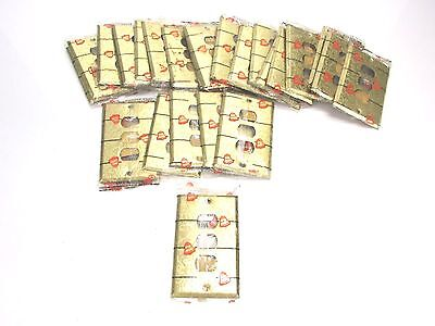NOS LOT Of 26 BELL INTERCHANGE 1-GANG ANTIQUE GOLD FINISH WALL PLATE, 3-HOLE - $14.99