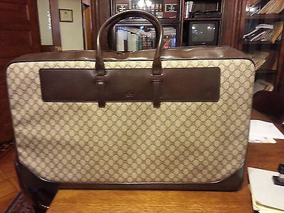 Gucci 1 Large Suitcase/Luggage Brn Mono BRAND NEW With Matching Garment Bag