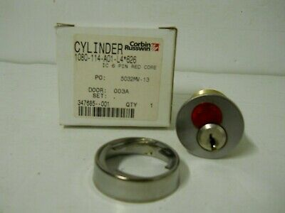 Corbin Russwin Cylinder Mortise Lock 1080-114-a01-l4 Ic 6 Pin Red Core 626