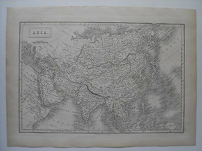 Map of Asia - 43½ cm x 32 cm (17¼