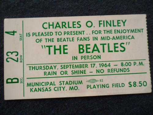 THE BEATLES Original_1964_CONCERT TICKET STUB__$8.50 SEAT!!!__Kansas City__EX++