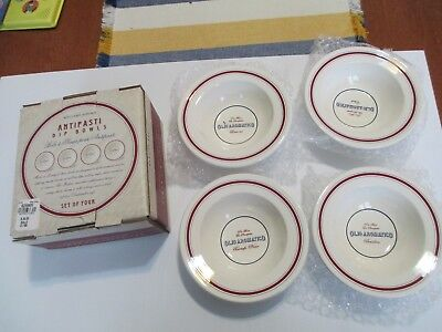 Williams Sonoma Antipasti Appetizer Party Dip Bowls Set of Four 5 1/2