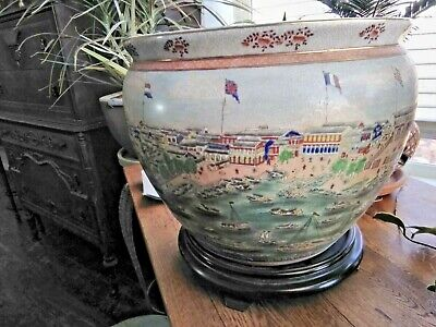United Wilson oversized porcelain fishbowl,13 Factories of Guangzhou Pearl River