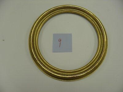 "10"" ROUND PICTURE FRAME ANTIQUE GOLD Free Shipping"