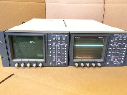 Tektronix WFM 601A Serial Component Monitor Oscilloscope W/ Rackmounts Enclosure
