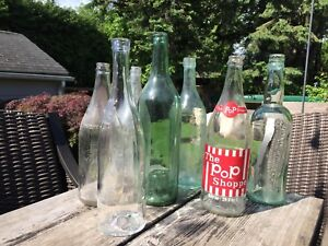 Vintage glass bottles - perfect for rustic/farm wedding/event