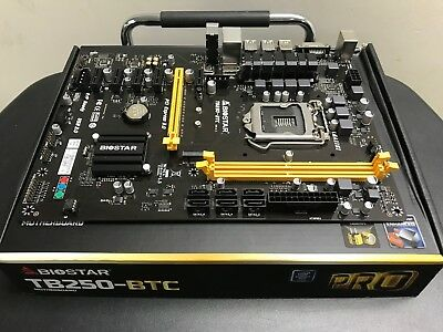 BIOSTAR TB250-BTC LGA 1151 Motherboard ATX Motherboard for Cryptocurrency Mining