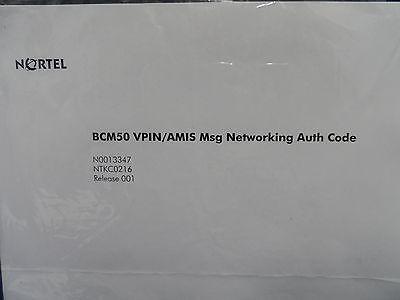 Sealed Nortel Bcm50 Ntkc0216 Vpinamis Msg Networking Authorization Key Code