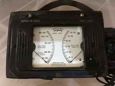 Vintage Triplett Model 2002 Test Meter