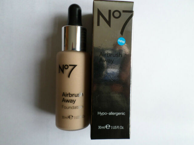 No7 AIRBRUSH AWAY FOUNDATION 30ml SHADE : COOL BEIGE NEW