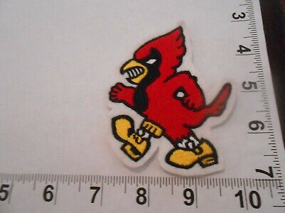 cardinal embroidered mascot sew on vintage patch    free shipping