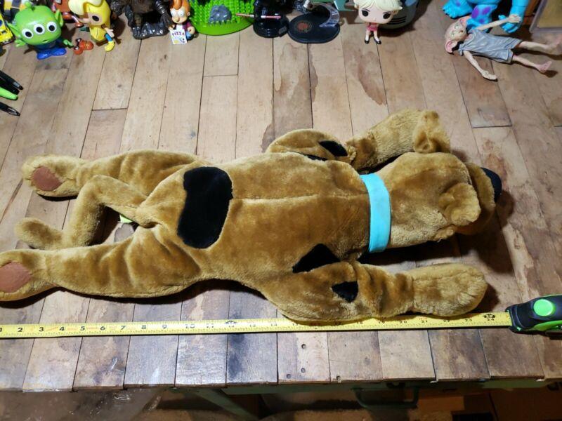 "Scooby Doo Plush Stuffed Animal Dog Laying Down Cartoon Network Vintage 24"""