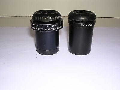 Wild Leica 20x Paired Eyepieces Wild M8 Stereo