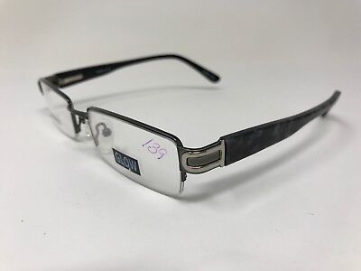 BEND IN LEFT ARM Glow Eyeglasses Halfrim Mod.10 51-18-135 Gunmetal DN33 - Glow Eyeglasses