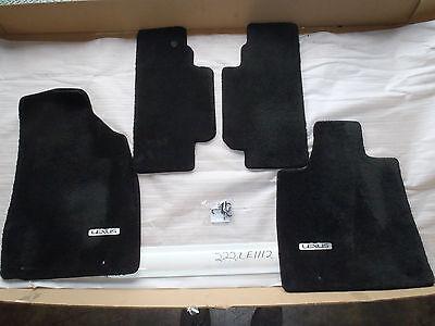 FLOOR MATS SET OF 4 LEXUS RX350 RX450H BLACK 10 11 12 FRONT REAR MAT OEM NICE!
