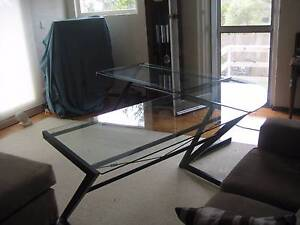 Desk - Glass Topped (Tempered Glass) Frenchs Forest Warringah Area Preview
