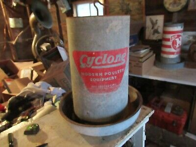Vintage Large Chicken Feeder Cyclone Poultry Equip. Only 1 On Ebay Lot 20-88-50