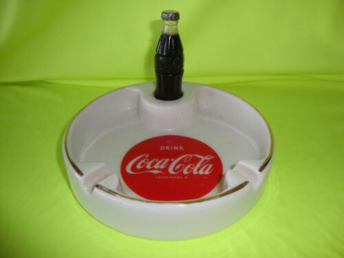 Coca Cola ashtray with bottle lighter (redbonzjunktiques)