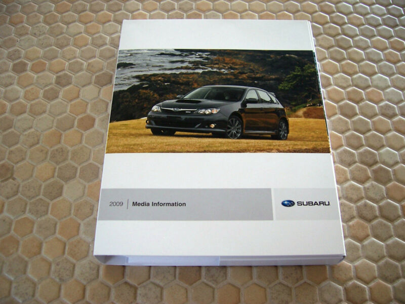 SUBARU COMPLETE LINE UP PRESS KIT CD BROCHURE AND BOOK 2009 USA EDITION