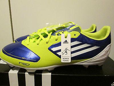 46ef91bf8 Adidas Adizero F30 TRX FG Blue White Lime Lightweight Soccer Cleats Size 9  NEW