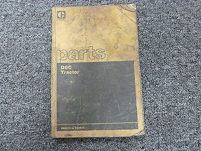 Caterpillar Cat D6c Crawler Tractor Dozer Parts Catalog Manual S N 69U316 69U612