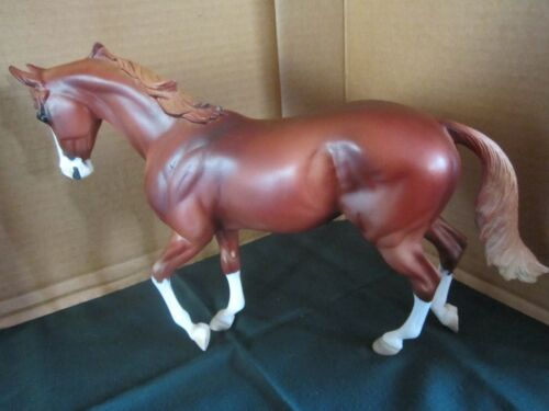 """Peter Stone Horse #2101 """"Awesome Alec"""" Red Chestnut Thoroughbred First Edition"""
