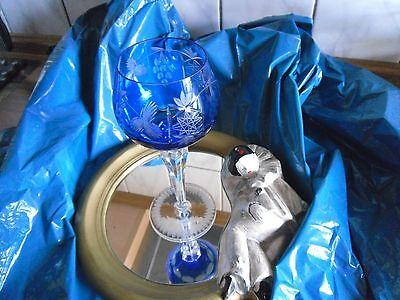 Altes Krisall Römer Glas ca. 50 Jahre alt Blau Erbstück gut erhalten