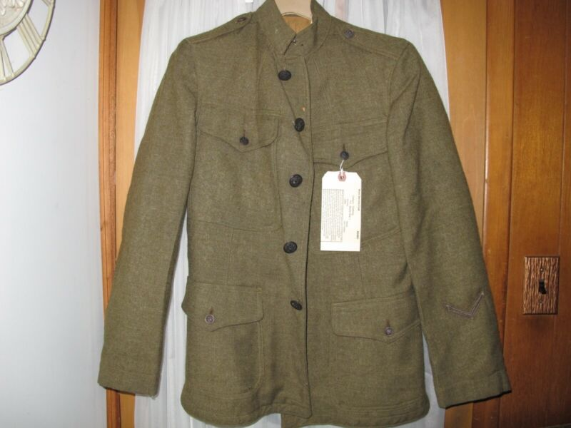WW1 US Army Wool Service Coat 1907 Enlisted Man Signal Corp Service Stripe