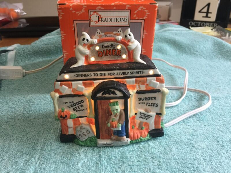 Halloween House Deadly Diner Lighted