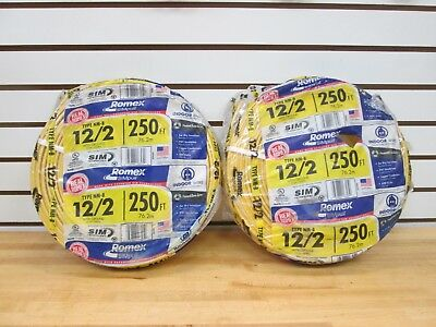 2 Rolls Of Romex 122 With Ground 500 Feet Type Nm-b New